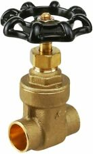 Brass Gate Valve, Lead Free 1/2 in. Sweat Connection, Cast Brass