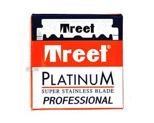 100 x Treet Platinum professional single edge super stainless razor blades
