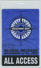 BACKSTREET BOYS 2000 LAMINATED BACKSTAGE PASS AA