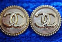Two 100%  Chanel buttons lot of 2  cc  size 1inch XXL