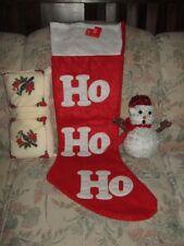 Large Christmas Stocking & Snowman & Pillow