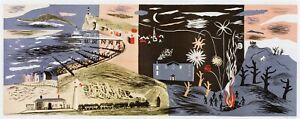 Newhaven frieze 2, John Piper print in 11 x 14 mount ready to frame SUPERB