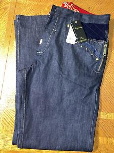 CROWN HOLDER Mens Denim Jeans Sz 36 x 34  Embroidered Baggy Hip Hop NWT