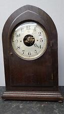 Large Vintage 1922 Bulle Electro-Magnetic 800 Day Lancet Top Mantle Clock