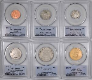 2017-S Enhanced Mint Set 6-Coin Set First Day of Issue - PCGS SP70 -