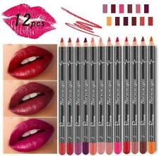 12x Makeup Matte Lip Pencil Cosmetic Kit Waterproof Long Lasting Liner Pen Set