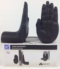 BOOKENDS - NEW MILAN PACIFIC HUMAN HANDS, BLACK SET NEW IN BOX