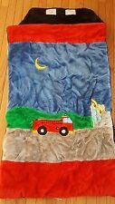 """Children's Kids Sleeping Bag Fire Truck Fireman Plush Bedding 25x51"""""""