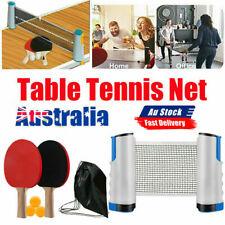 Retractable Net Table Tennis Paddle Portable Training Sport Bats Ping Pong Set