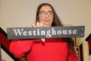 "Vintage Westinghouse Electric Generator Motor Gas Oil 18"" Metal Sign"