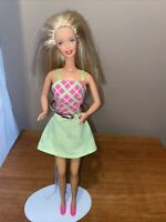 1990s Barbie Doll by Mattel China Twist & Turn Blonde Hair Laughing WORKS