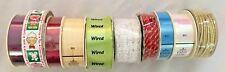 New Hallmark & Other Brands 270 Feet Multicolor Ribbon - Lot of 10 Rolls