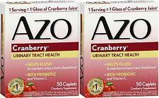 AZO URINARY TRACT HEALTH CRANBERRY 50 Caplets (2 PACK)
