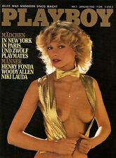 Playboy Januar/01/1982   GABI SCHÜDEL & PLAYMATE-PARADE*