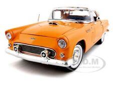 1956 FORD THUNDERBIRD ORANGE 1/18 DIECAST MODEL CAR BY MOTORMAX 73176