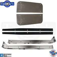 56-60 Corvette Door Sill Scuff Plates w/ Spacers & Fillers SET GM Resto USA Made