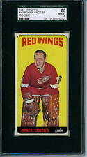 1964 Topps # 47 Rookie Roger Crozier Graded Card SGC 88 = 8 Detroit Red Wings