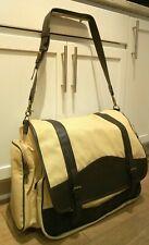 Vintage Reebok Canvas Leather Shoulder Messenger Weekender bag