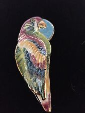 One Of A Kind Bird Pin Handmade Very Colorful