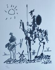 PABLO PICASSO DON QUIXOTE 1955 SIGNED HAND NUMBERED 484/1000 LITHO Quichotte