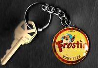Frostie Root Beer Bottle Cap Image Keychain Key Chain