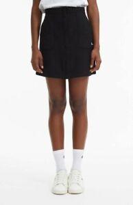 Champion Popper Reverse Weave Mini Skirt Women's Black Sportswear Activewear
