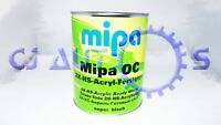 MIPA HS ACRYLIC SUPER BLACK 2K SOLID DIRECT GLOSS PAINT 1 LITRE TAXI TOYOTA 202