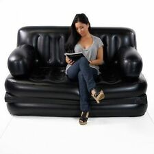 5 in1 Inflatable Sofa Air Bed Couch RECLINER LOUNGER Free Electric Pump