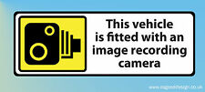 CCTV Tracker Camera Immobilised Alarm Sticker Taxi Smile Sign Car Van Lorry R001 (18cm X 6cm)