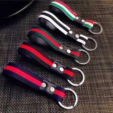 Men Leather Metal Car Keychain Keyring Purse Bag Key Chain Ring Keyfob 5 Colors