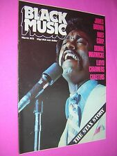 BLACK MUSIC MAGAZINE. MARCH 1975. JOHNNIE TAYLOR FRONT COVER. REGGAE. SOUL