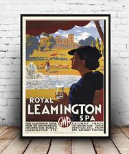 Leamington spa : Vintage Travel  Poster reproduction