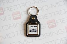 Rover P5 Keyring - Leatherette & Chrome Retro British classic car keyfob