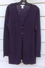 Tweeds Sweater  Cardigan Raisin 100% Merino Wool XL