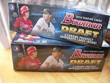 2016 Bowman Draft Baseball Jumbo 2 Box Lot - 3 autographs per box - Clean fresh
