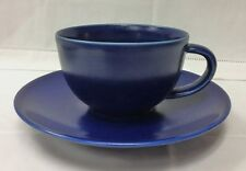 "ARABIA ""24 HOUR BLUE"" TEACUP & SAUCER STONEWARE NEW MADE IN FINLAND"