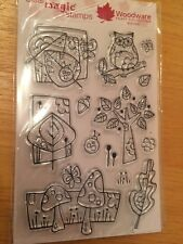 O391 - NATURE STAMPS - BIRTHDAY WOODLAND PAPER CRAFT CARD MAKING SCRAP BOOKING