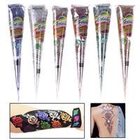 1x Women Glitter Gold Henna Tattoo Paste Cone 25g Flash Tattoo Body Arts Paint H