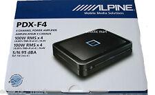 ALPINE PDX-F4 CAR 4-CHANNEL  EXTREME POWER DENSITY DIGITAL AMPLIFIER 4 x100 RMS