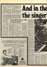 Wings Linda McCartney She's The Singer In The Band MM5 Interview 1975