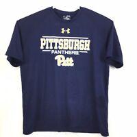 Under Armour HeatGear Loose Pittsburgh Panthers T-Shirt Football NCAA XL #4218