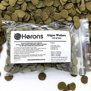 HERONS Algae Wafers 6% Spirulina PLECO TROPICAL FISH FOOD CATFISH BOTTOM FEEDERS