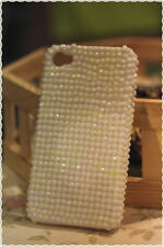 Cover custodia rigida iphone 4 e 4s strass bianco opaco applicati a mano