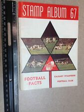 1967 Calgary Stampeders CFL Media Guide