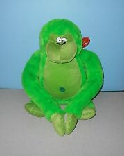 """18"""" Sitting Green Big Belly Belly Button Ape / Money Closure Paws Stuffed Plush"""