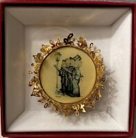 "Hummel 24K Gold Plated Christmas Ornament ""The Quartet"" 2 Sided Original Box"