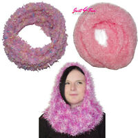 Fluffy  MAGIC SCARF PINKS  Neck Warmer Plain neckwarmer Speckled
