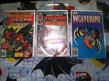 Marvel Team Up #51 #117 Wolverine Limited Series #2 comics Spider-man Iron Man