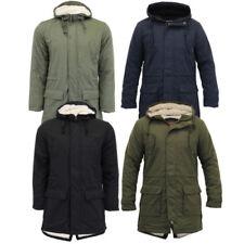 Cappotti e giacche da uomo stile parka con cappuccio in cotone