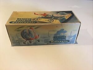 REMOTE CONTROL HELICOPTER MADE IN WEST GERMAN TIN TOY